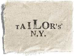 Tailor's N.Y. logo - fabric-covered busts and dummies