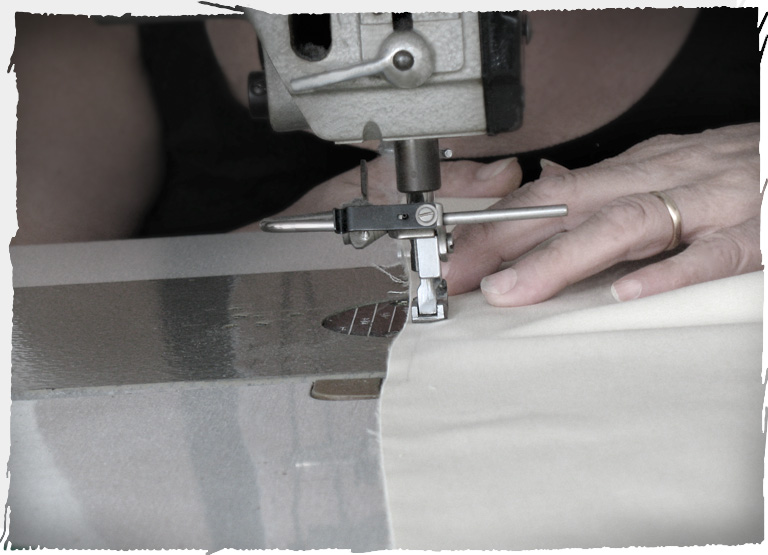Machine sewing for the creation of busts
