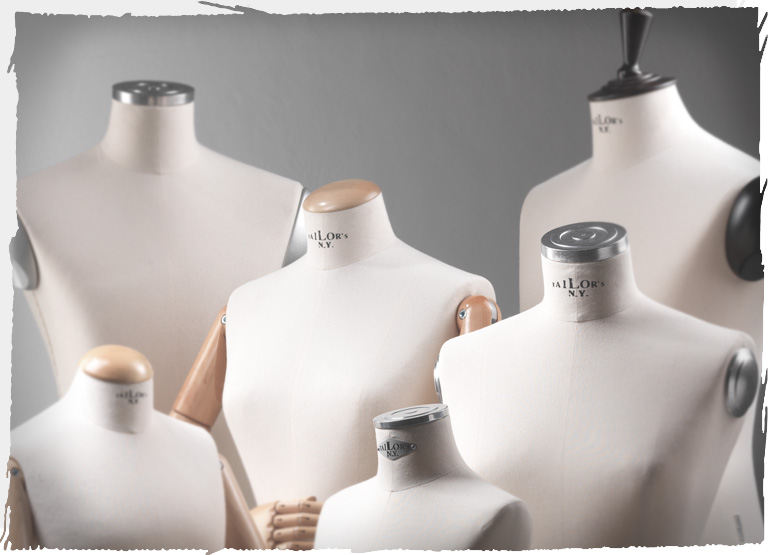 Window display bust accessories: anatomical arms, anatomical shoulder pads, shoulder covers